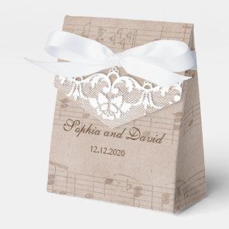 De vintage Douane van het Huwelijk van het Blad & Bedankdoosjes