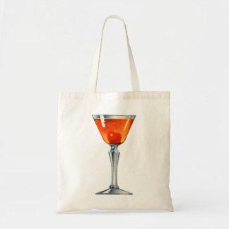 De vintage Drank Manhattan van de Sterke drank van Draagtas