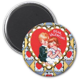 De vintage Driehoeken en de Harten van Valentijn Magneet