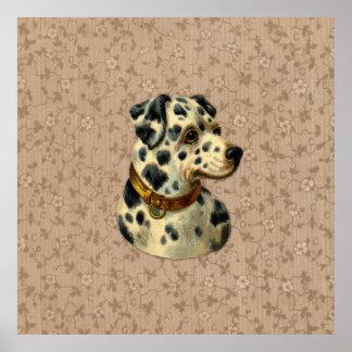 De vintage Druk van de Hond Dalmation Poster