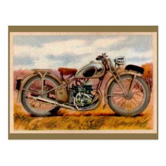 De vintage Druk van de Motorfiets Briefkaart