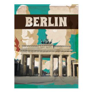 De vintage druk van het Poster van de Reis van Briefkaart