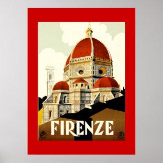 De vintage Druk van Italië van Florence van de