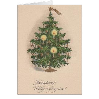 De vintage Duitse Kaart van de Kerstboom