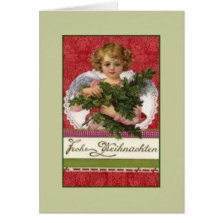 De vintage Duitse Kerstkaart van Frohe Weihnachten Briefkaarten 0
