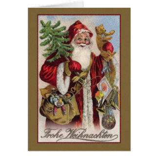 De vintage Duitse Kerstkaart van Frohe Weihnachten Kaart
