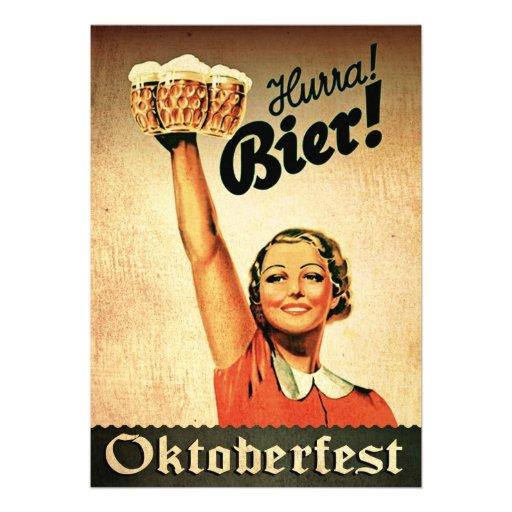 De vintage Duitse Uitnodiging van de Douane Oktobe