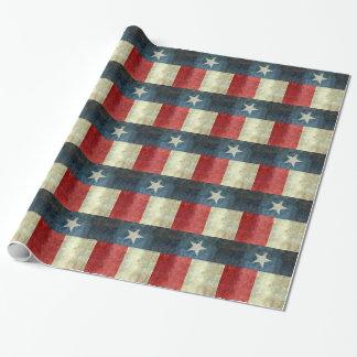 De vintage Eenzame vlag van de sterstaat van Texas Cadeaupapier