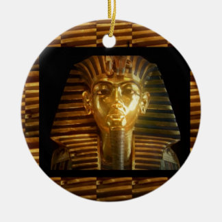 De VINTAGE Egyptische Kunst van Idolen: PIRAMIDES Rond Keramisch Ornament