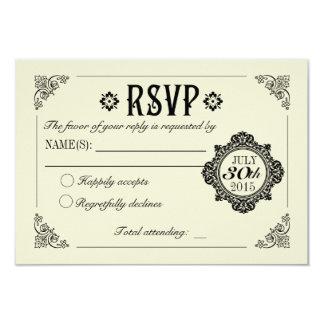 De vintage Elegante Uitnodiging RSVP van het