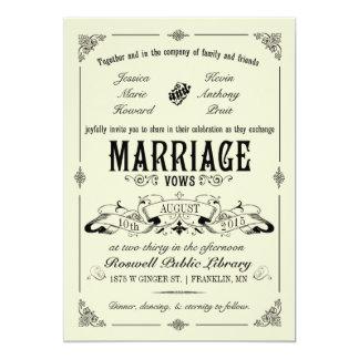 De vintage Elegante Uitnodiging van het Huwelijk