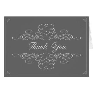 De VINTAGE ELEGANTIE | Grijs dankt u nota neemt Kaart