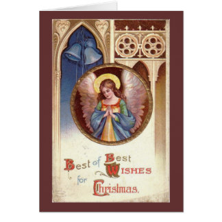 De vintage Engel van Kerstmis Briefkaarten 0