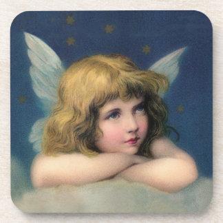 De Vintage Engel van schattige Kerstmis Drankjes Onderzetters