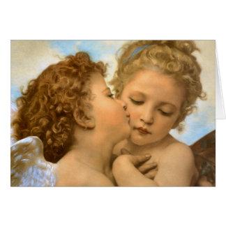 De vintage Engelen van Kerstmis, Eerste Kus door Briefkaarten 0