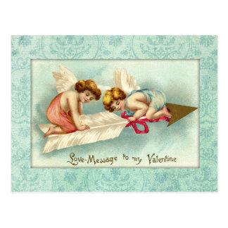 De vintage Engelen van Valentijn Briefkaart