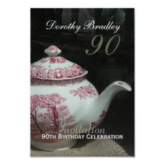 De vintage Engelse Uitnodiging van de Verjaardag
