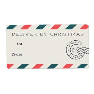 De vintage Etiketten van de Gift van Kerstmis van