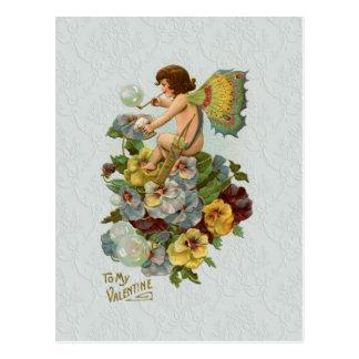 De vintage Fee van Valentijn Briefkaart