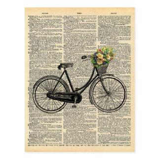 De vintage Fiets van de Kunst van het Woordenboek Briefkaart