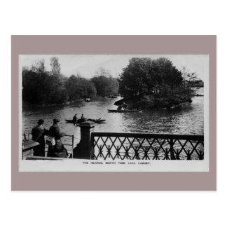 De vintage foto van Cardiff Wales van het Meer van Briefkaart