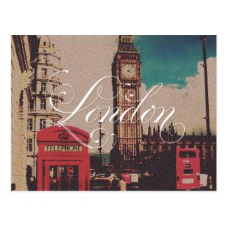 De Vintage Foto van het Oriëntatiepunt van Londen Briefkaart