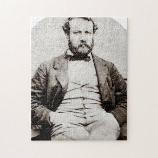 De vintage Foto van het Portret van Jules Verne Legpuzzel