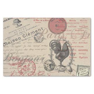 De vintage Franse Haan van Parijs van het Tissuepapier