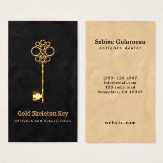 De vintage Gouden Antiek Handelaar van de Visitekaartjes