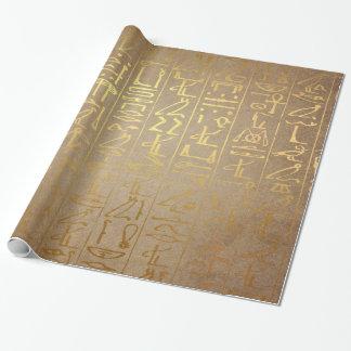 De vintage Gouden Egyptische Druk van het Document Inpakpapier