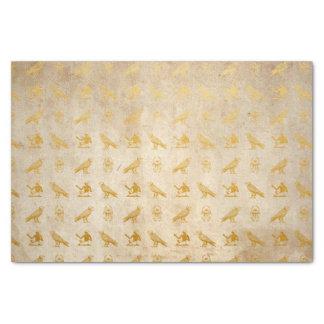 De vintage Gouden Egyptische Druk van het Document Tissuepapier