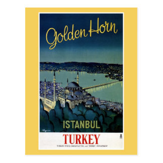 De vintage Gouden reis van Istanboel Turkije van Briefkaart