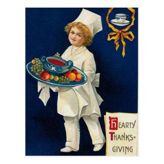 De vintage Groet van de Thanksgiving Briefkaart