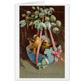 De vintage Groeten van Pasen!  De Victoriaans Kaart