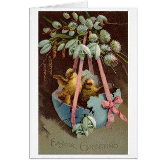 De vintage Groeten van Pasen!  De Victoriaans Wenskaart