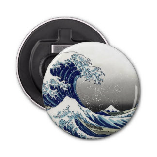 De Vintage, Grote Golf van PixDezines, Hokusai Button Flesopener