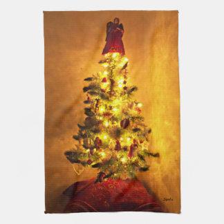 De vintage Handdoek van de Keuken van de Kerstboom