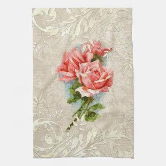 De vintage Handdoek van het Damast en van de