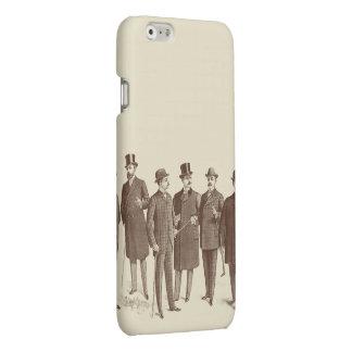 De vintage Heren van het Man vormen Bruin Koel iPhone 6 Hoesje Mat