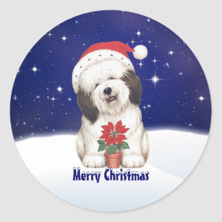De vintage Hond van de Kerstman en de Sticker van