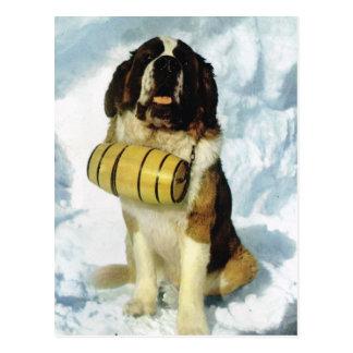De vintage hond van de Sint-bernard van Briefkaart