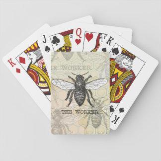 De vintage Honing van de Druk van de Kunst van de Speelkaarten