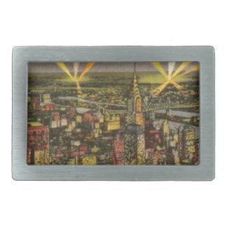 De vintage Horizon van de Stad van New York Gesp
