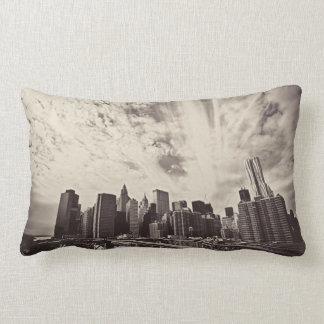 De vintage Horizon van de Stad van New York van de Lumbar Kussen