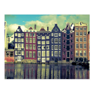 De vintage huizen van Holland Briefkaart