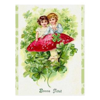 De vintage Ierse Groeten van Bonne Fefel Briefkaart