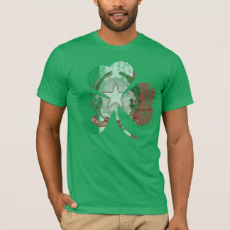 De vintage Ierse Italiaanse Erfenis van de Klaver T Shirt