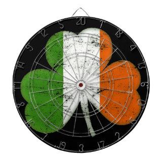 De vintage Ierse Klaver van de Vlag Dartbord