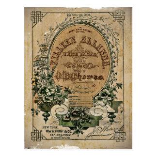 De vintage Ierse Muziek van het Blad Briefkaart