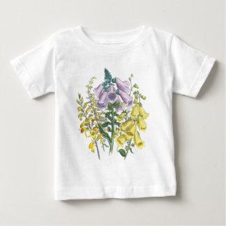 De vintage Illustratie van de Digitalis Baby T Shirts